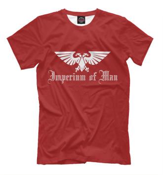 Мужская Футболка Imperium of man red