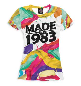 Женская Футболка Made in 1983