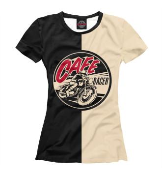 Женская Футболка Cafe Racer