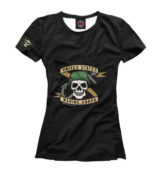 Женская Футболка Морская пехота США