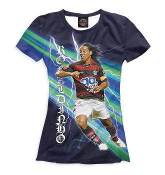 Женская Футболка Ronaldinho
