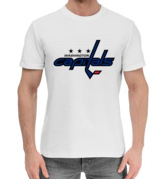 Хлопковая футболка Овечкин Форма Capitals 2018