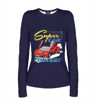 Женский Лонгслив Super Car