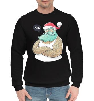 Мужской Хлопковый свитшот Santa Hipster