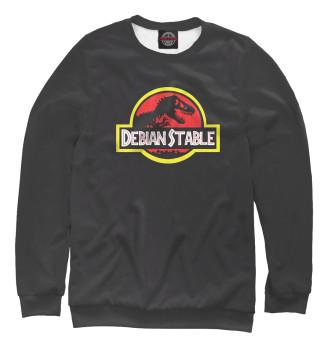 Женский Свитшот Debian Stable