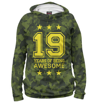 Женское Худи 19 Years of Being Awesome