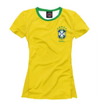 Женская Футболка Форма Сборной Бразилии 2018