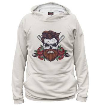Женское Худи Bearded Skull And Roses