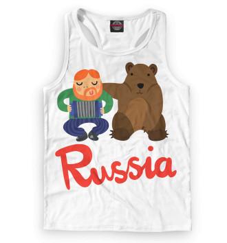 Мужская Борцовка Медведь и гармонист