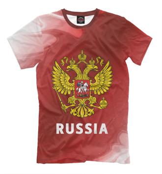 Мужская Футболка Russia / Россия