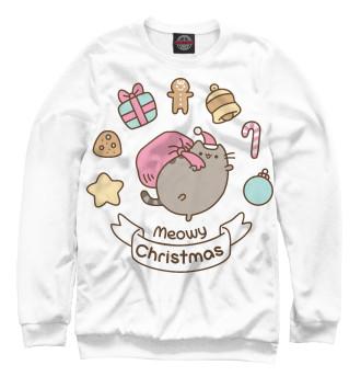 Женский Свитшот Pusheen Christmas
