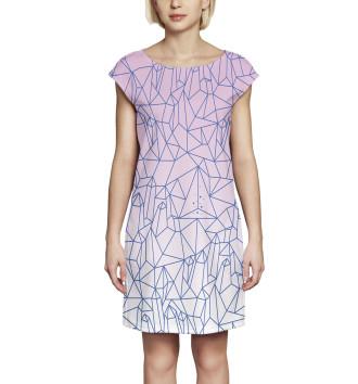 Женское Платье без рукавов Абстракция