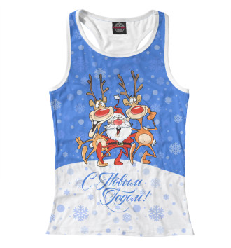 Женская Борцовка Санта Клаус с оленями