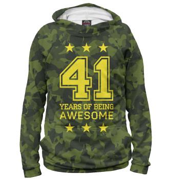 Женское Худи 41 Years of Being Awesome