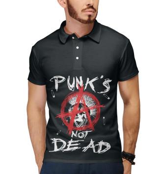 Мужское Поло Punk's Not Dead