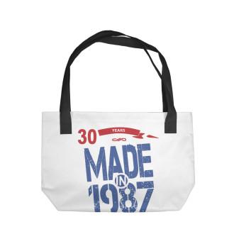 Пляжная сумка Рожденный в 1987