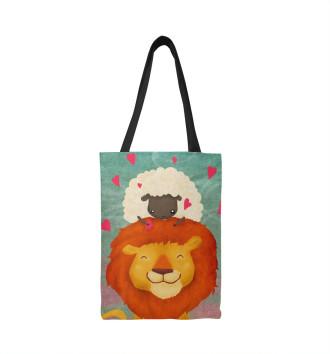 Сумка-шоппер Лев и овечка