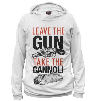 Женское Худи Отложи пистолет и съешь канноли