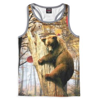 Мужская Борцовка Медведь на дереве