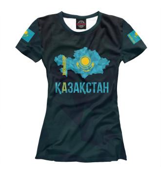 Женская Футболка Kazakhstan