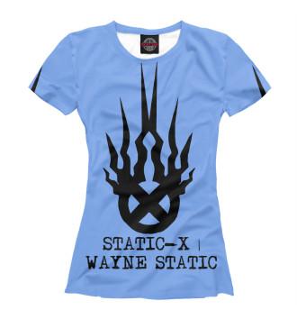 Женская Футболка Static-X | Wayne Static Blue