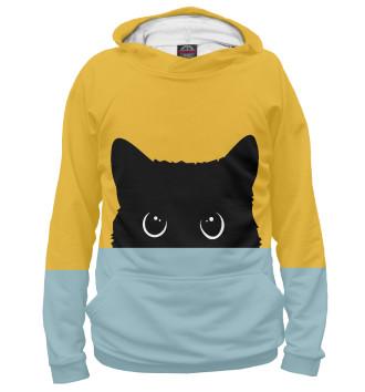 Женское Худи Черная кошка