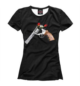 Женская Футболка Guns and Roses