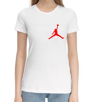 Женская Хлопковая футболка Michael Jordan