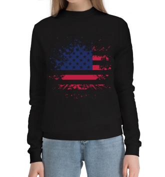 Женский Хлопковый свитшот USA