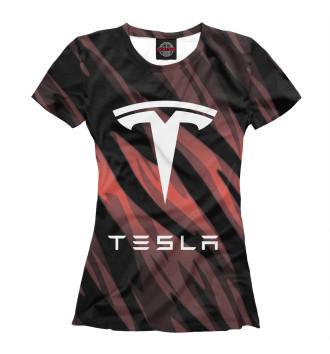 Женская Футболка Tesla