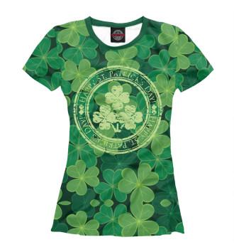 Женская Футболка Ireland, Happy St. Patrick's Day