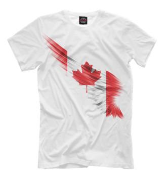 Мужская Футболка Свободная Канада