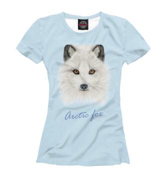 Женская Футболка Arctic fox