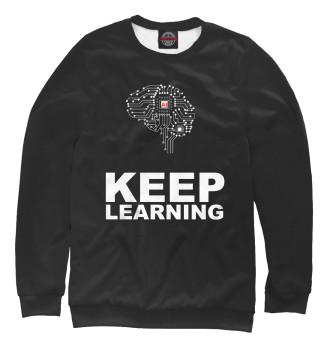 Мужской Свитшот AI – Keep learning