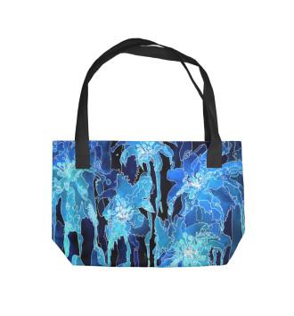 Пляжная сумка синяя инверсия