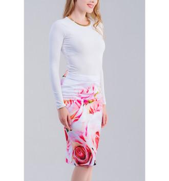 Женская Юбка-карандаш Розы