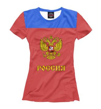 Женская Футболка Сборная России по хоккею