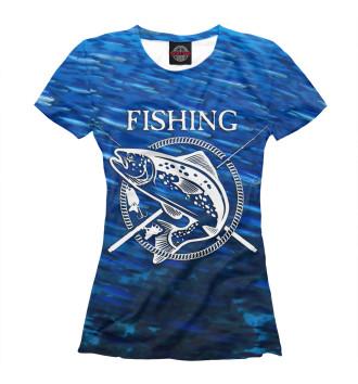 Женская Футболка Fishing