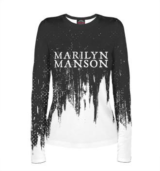 Женский Лонгслив Marilyn Manson / М. Мэнсон