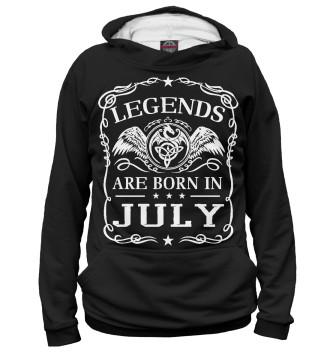 Женское Худи Легенды рождаются в июле