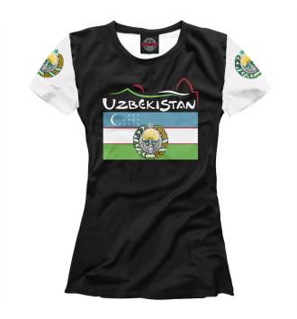 Женская Футболка Узбекистан
