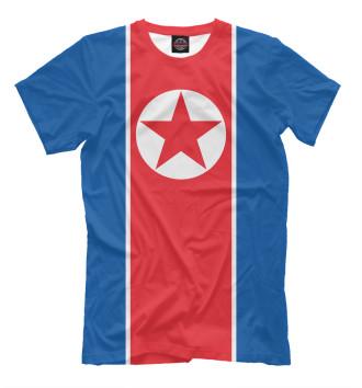 Мужская Футболка Флаг Северной Кореи