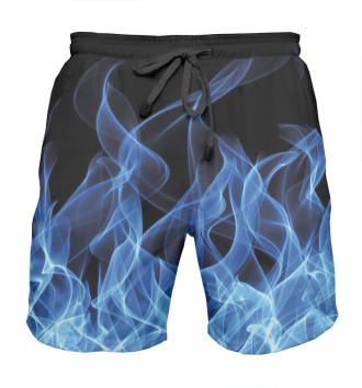 Мужская Шорты мужские Синий огонь