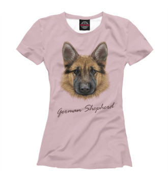 Женская Футболка German Shepherd