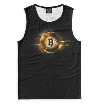 Мужская Майка Bitcoin