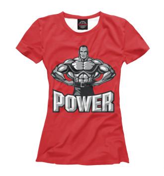 Женская Футболка Power