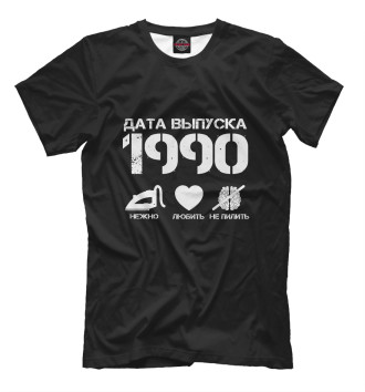 Мужская Футболка Дата выпуска 1990