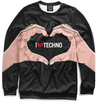 Женский Свитшот Techno
