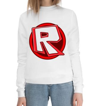 Женский Хлопковый свитшот Roblox Logo