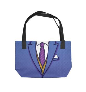 Пляжная сумка Синий костюм